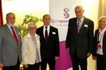 V. l.: Niels-Peter Kolthammer, Christa Cordes, Wolfgang Melloh, Carsten Broocks, Bürgermeisterin Meike Moog-Steffens