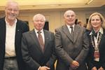 v. l.: Peter Ladeur, Werner Salomon, Alfred Höft, Bürgermeisterin Meike Moog-Steffens