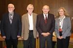 v. l.: Peter Jantschik, Werner Mader, Werner Köster, Bürgermeisterin Meike Moog-Steffens (es fehlt Helga Krienke)